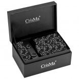 CrisMa Krawat, kolor czarny 7794903
