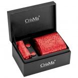 CrisMa Krawat, kolor czerwony 7794905