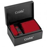 CrisMa Krawat, kolor czerwony 7795105