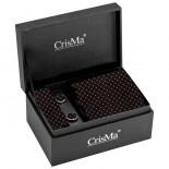 CrisMa Krawat, kolor bordowy 7795202