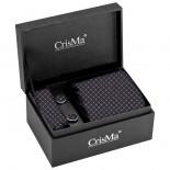 CrisMa Krawat, kolor czarny 7795203