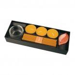Zestaw 3 świeczek, kolor pomarańczowy 8010410