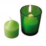 Szklany świecznik, kolor zielony 8020109