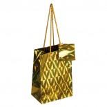 Mała torba na prezenty, kolor złoty 8021598