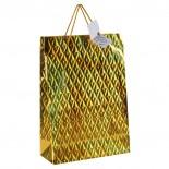 Duża torba na prezenty, kolor złoty 8021898