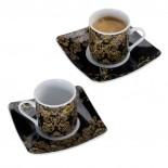 CrisMa Filiżanki do espresso, kolor czarny 8030803