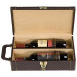 Skrzynka na wino, kolor brązowy 8760201