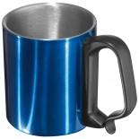 Stalowy kubek, kolor niebieski 8843004