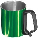 Stalowy kubek, kolor zielony 8843009