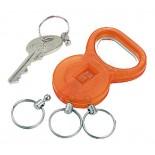 Brelok-otwieracz do butelek, kolor pomarańczowy 9228610
