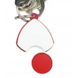 Brelok z żetonem, kolor czerwony B902605