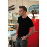 T-Shirt męski z krótkim rękawem, kolor czarny MC15003-L