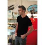 T-Shirt męski z krótkim rękawem, kolor czarny MC15003-S