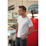 T-Shirt męski z krótkim rękawem, kolor biały MC15006-S