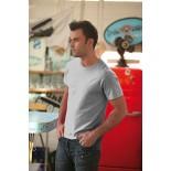 T-Shirt męski z krótkim rękawem, kolor ash MC15076-XXL