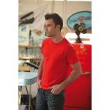 T-Shirt męski z krótkim rękawem, kolor czerwony MC160X05-XXXL