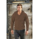 Bluza męska rozpinana z kapturem, kolor brązowy SWZ28001-XXXL
