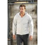 Bluza męska rozpinana z kapturem, kolor biały SWZ28006-S