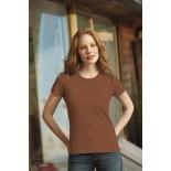 T-Shirt damski z krótkim rękawem, kolor brązowy WCS18001-S