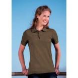 Koszulka damska polo, kolor brązowy WPS17001-S