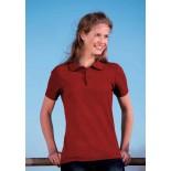 Koszulka damska polo, kolor ciemno czerwony WPS17055-S