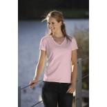 T-Shirt damski z krótkim rękawem, kolor jasno różowy WVS18031-XL