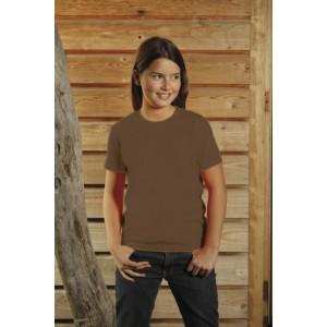 T-Shirt dziecięcy z krótkim rękawem, kolor brązowy YC15001-L