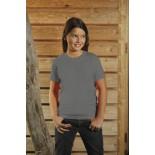 T-Shirt dziecięcy z krótkim rękawem, kolor ciemno szary YC15077-XL