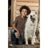 Koszulka dziecięca polo, kolor brązowy YPS17001-L