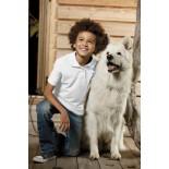 Koszulka dziecięca polo, kolor biały YPS17006-L