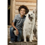Koszulka dziecięca polo, kolor ciemno szary YPS17077-S